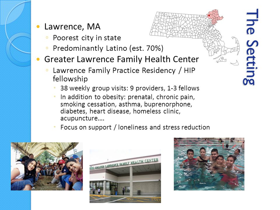 The Setting Lawrence, MA ◦ Poorest city in state ◦ Predominantly Latino (est.