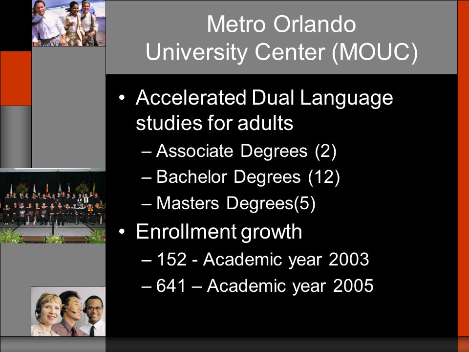 Activities, Accomplishments and Lessons Learned The Orlando Experience