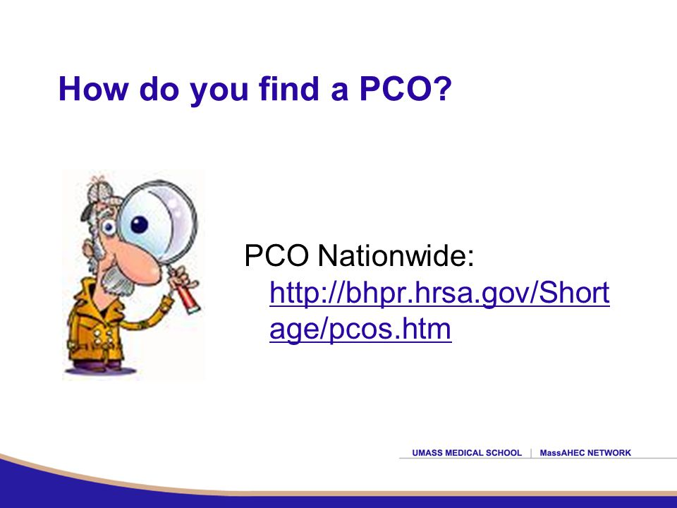 How do you find a PCO.