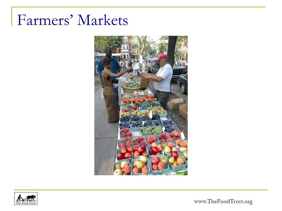 www.TheFoodTrust.org Farmers' Markets