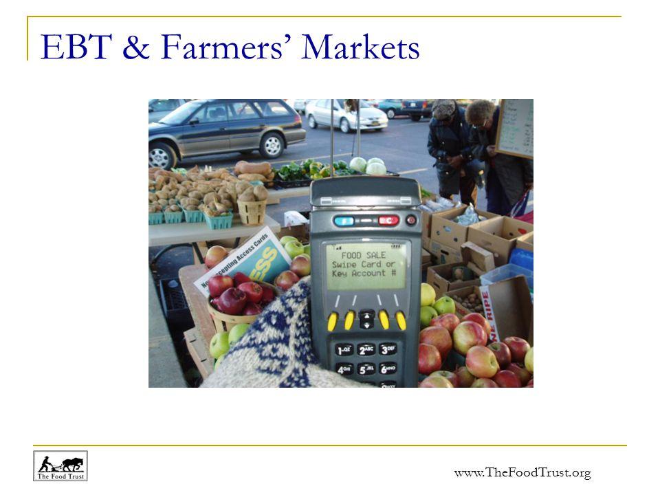 www.TheFoodTrust.org EBT & Farmers' Markets