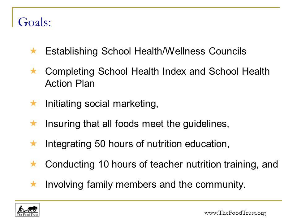 www.TheFoodTrust.org School Nutrition Policy Initiative