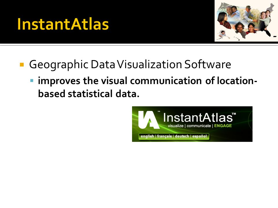  Geographic Data Visualization Software  improves the visual communication of location- based statistical data.
