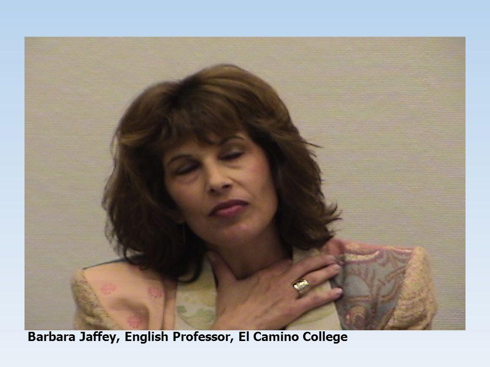 Barbara Jaffey, English Professor, El Camino College