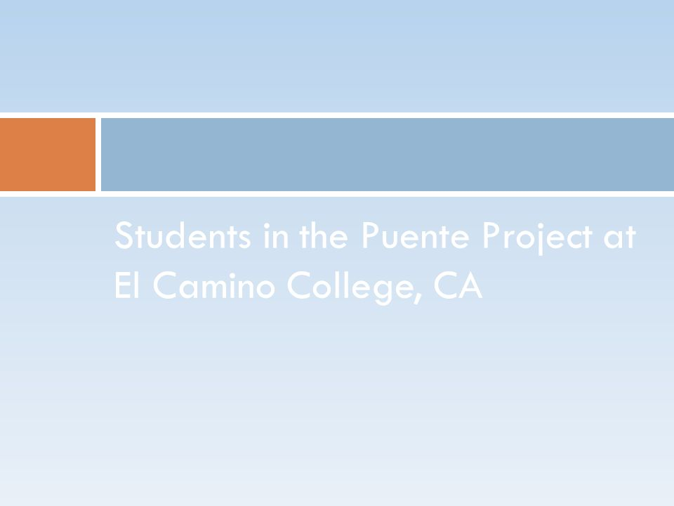 Students in the Puente Project at El Camino College, CA
