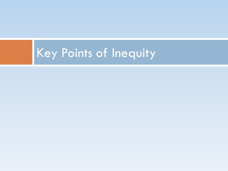Key Points of Inequity