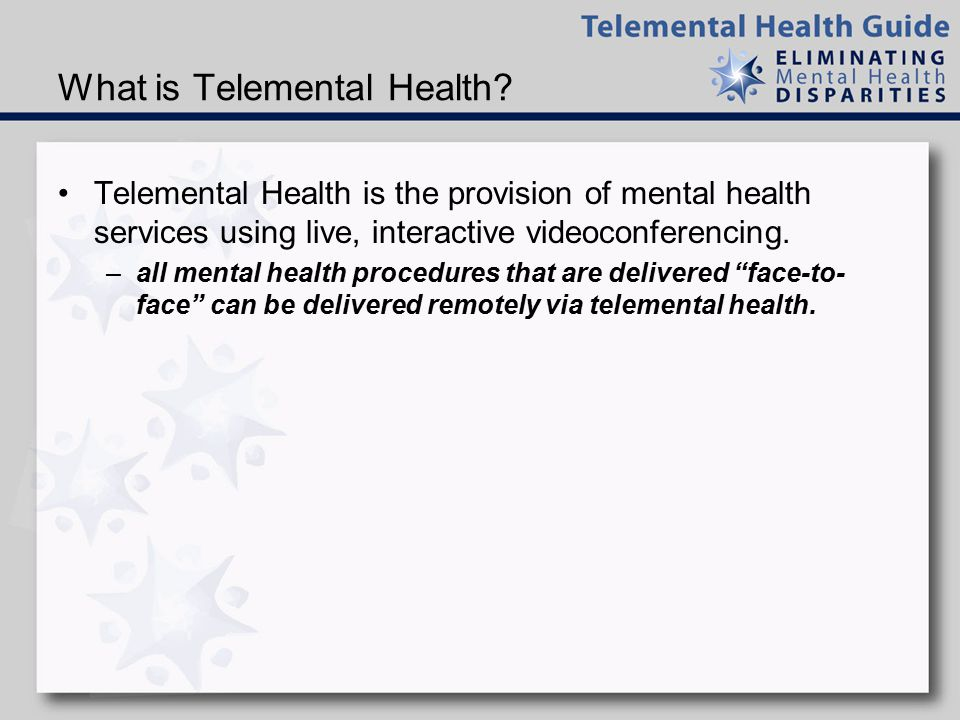 What is Telemental Health.