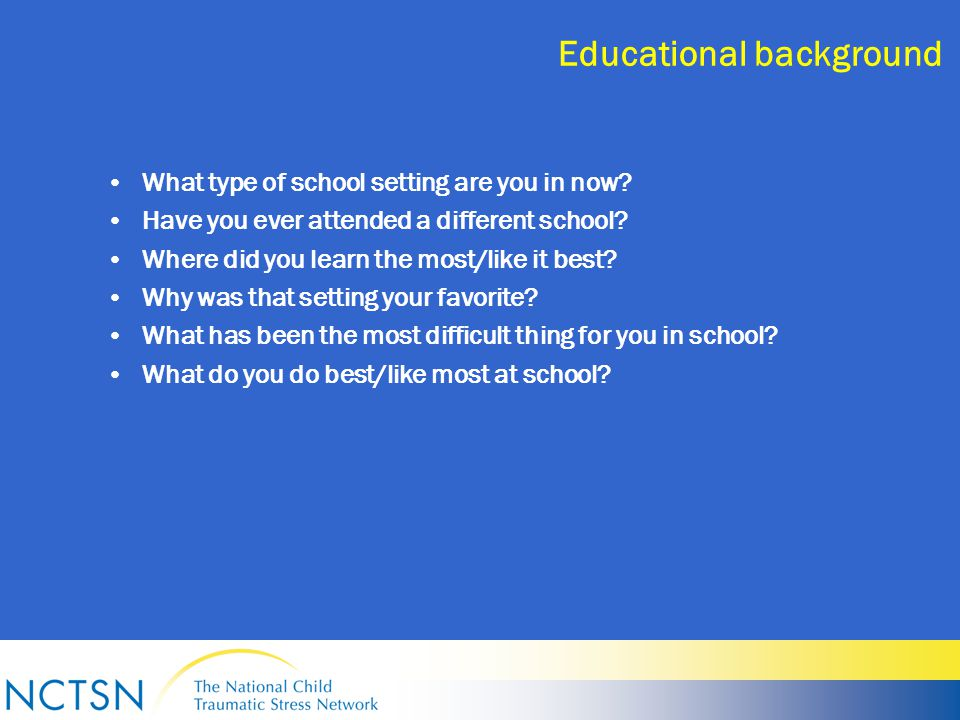Educational background What type of school setting are you in now.