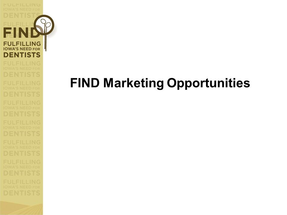 FIND Marketing Opportunities