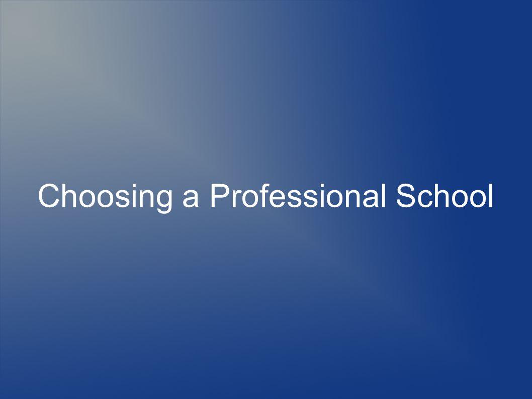 Choosing a Professional School