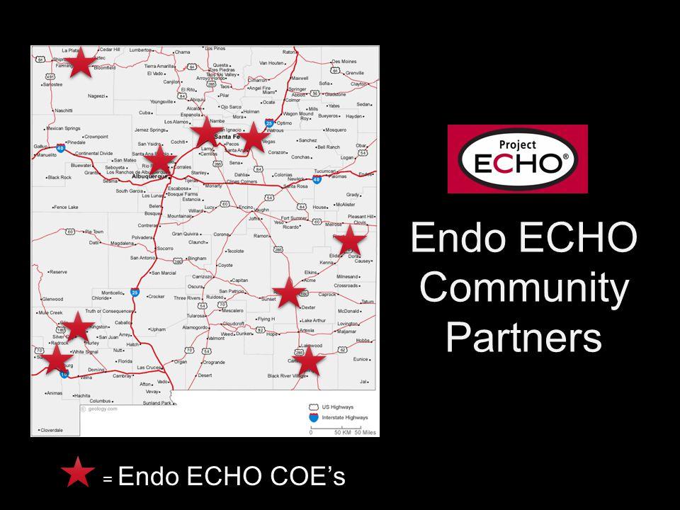 Endo ECHO Community Partners = Endo ECHO COE's