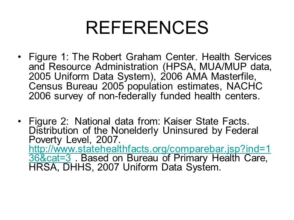 REFERENCES Figure 1: The Robert Graham Center.