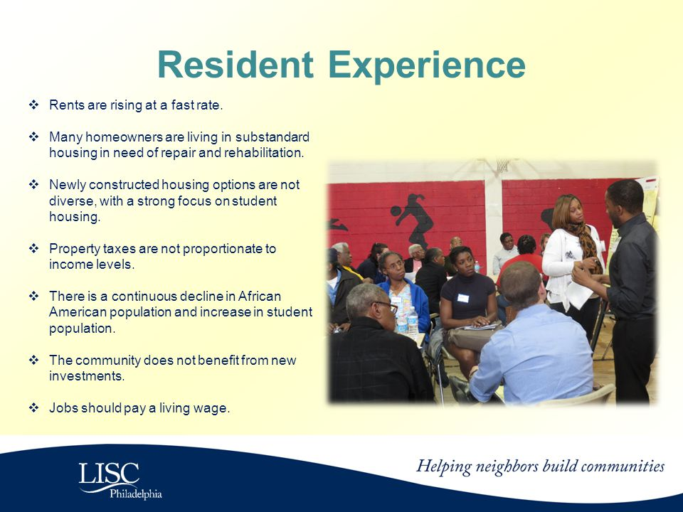 Resident Experience  Rents are rising at a fast rate.