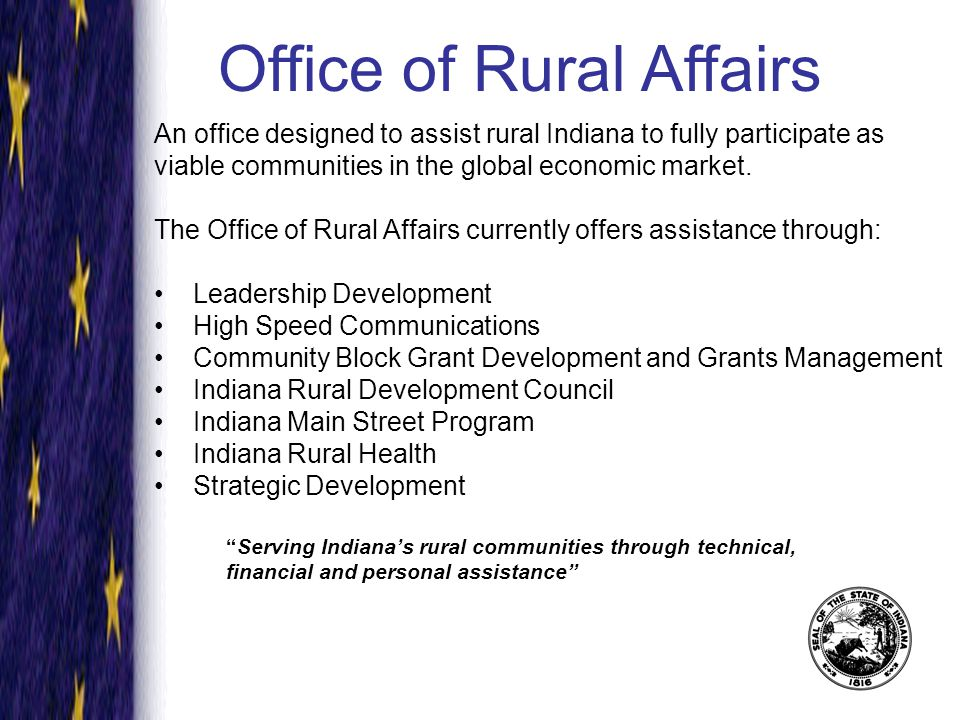 75 percent of Indiana's communities are rural and many have yet to access broadband services.