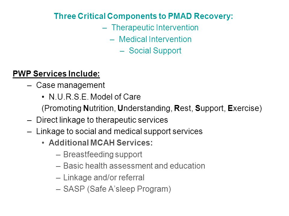 Distinct Services; Parallel Missions MCAH's Mission: To protect, improve and optimize the health and wellbeing of women, infants, and children in Tulare County.