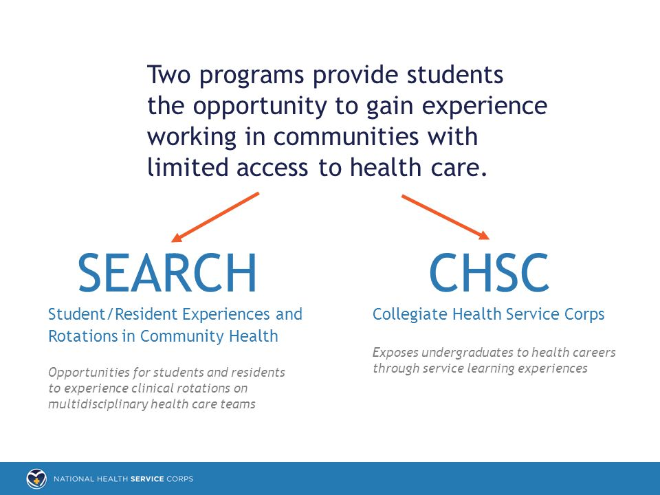 SEARCH Two programs provide students the opportunity to gain experience working in communities with limited access to health care.