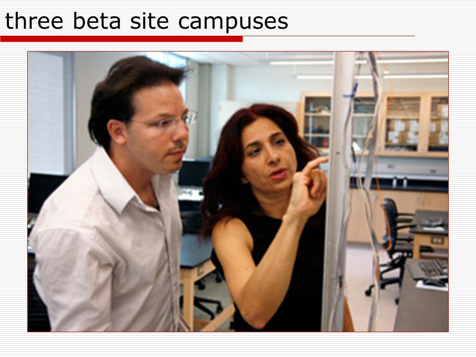 three beta site campuses