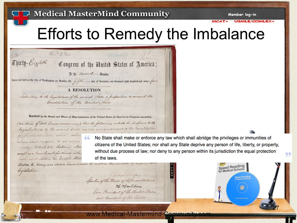 27 Efforts to Remedy the Imbalance www.Medical-Mastermind-Community.com