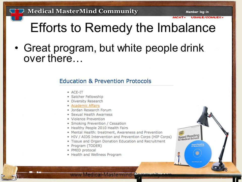 48 Efforts to Remedy the Imbalance Great program, but white people drink over there… www.Medical-Mastermind-Community.com