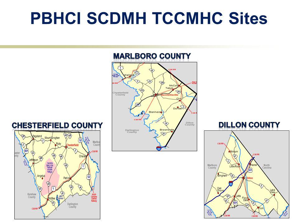 PBHCI SCDMH TCCMHC Sites 5