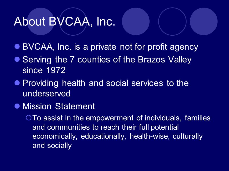 About BVCAA, Inc.BVCAA, Inc.