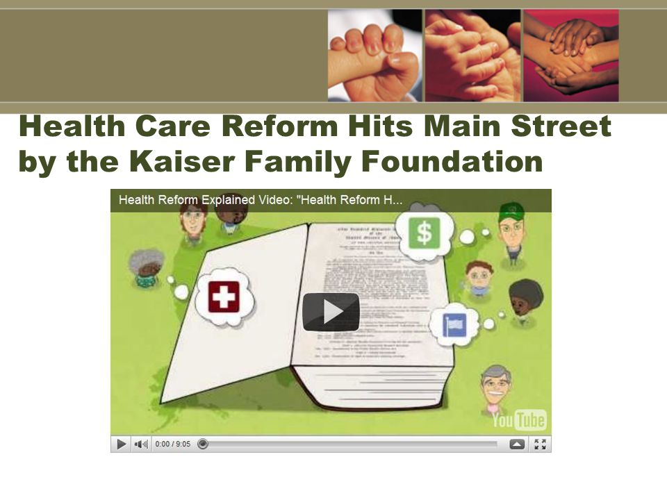 Health Care Reform Hits Main Street by the Kaiser Family Foundation