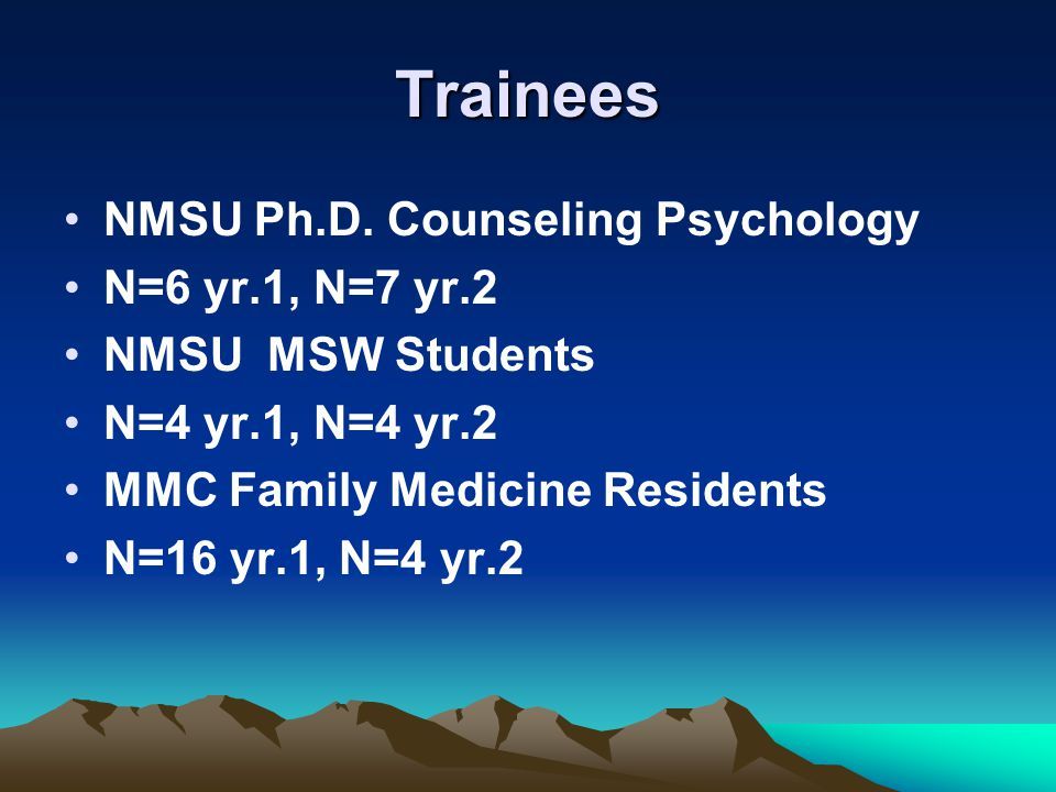 Trainees NMSU Ph.D.