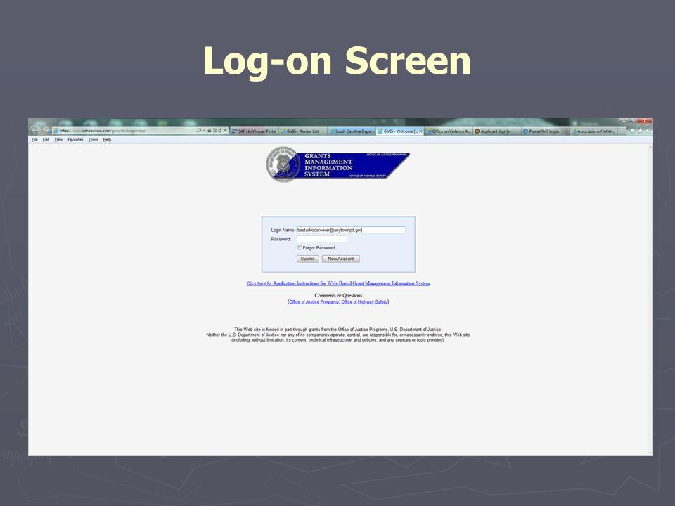 Log-on Screen