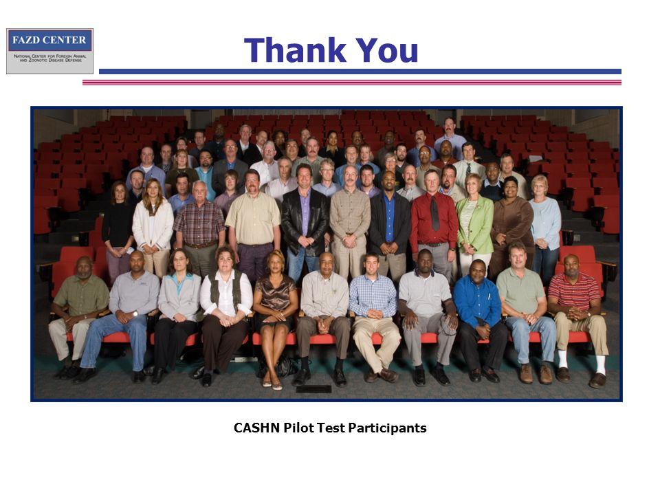 Thank You CASHN Pilot Test Participants