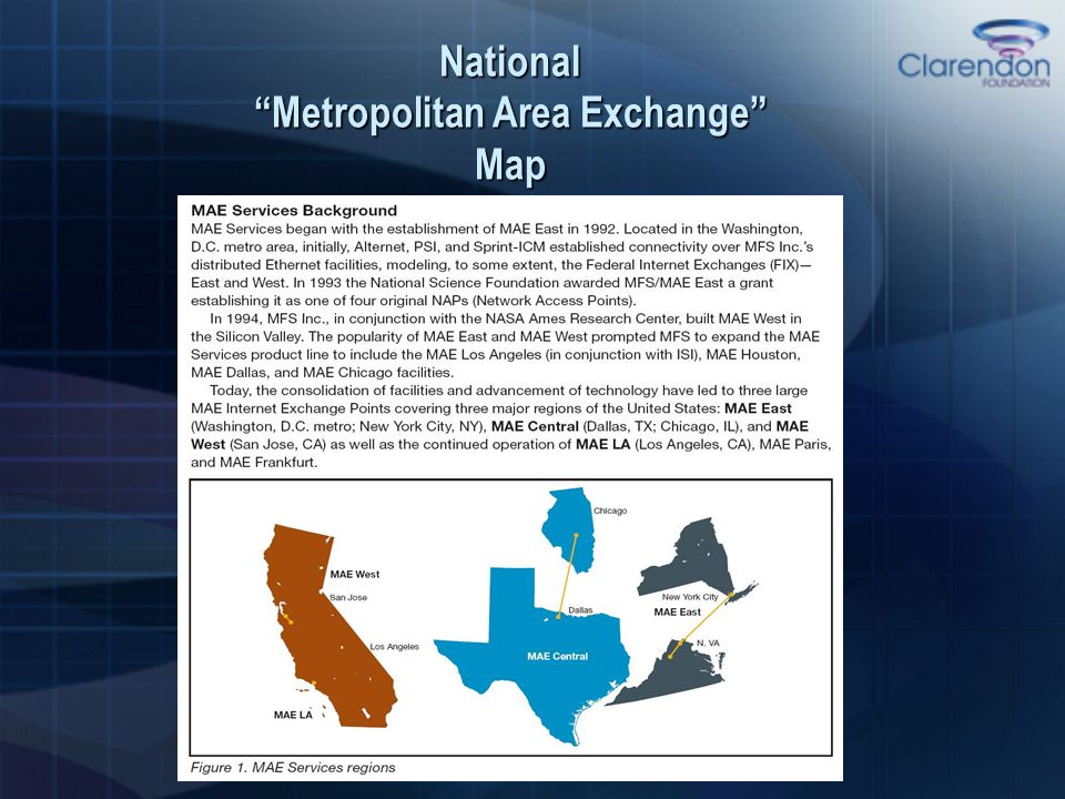 "National ""Metropolitan Area Exchange"" Map"