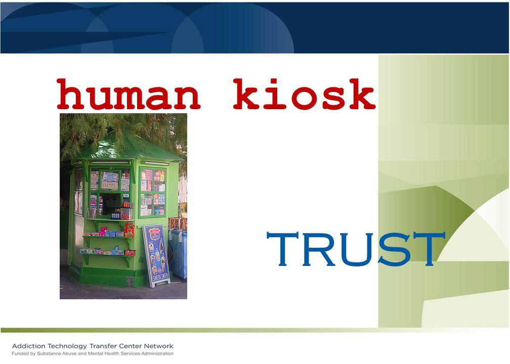 human kiosk TRUST