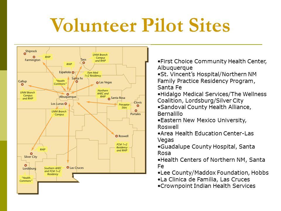 Volunteer Pilot Sites First Choice Community Health Center, Albuquerque St.