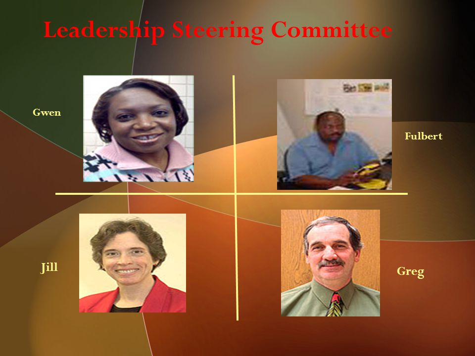 Leadership Steering Committee Gwen Fulbert Greg Jill