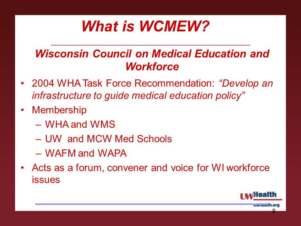 8 What is WCMEW.