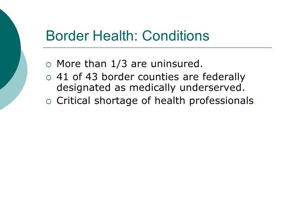 Border Health: Conditions
