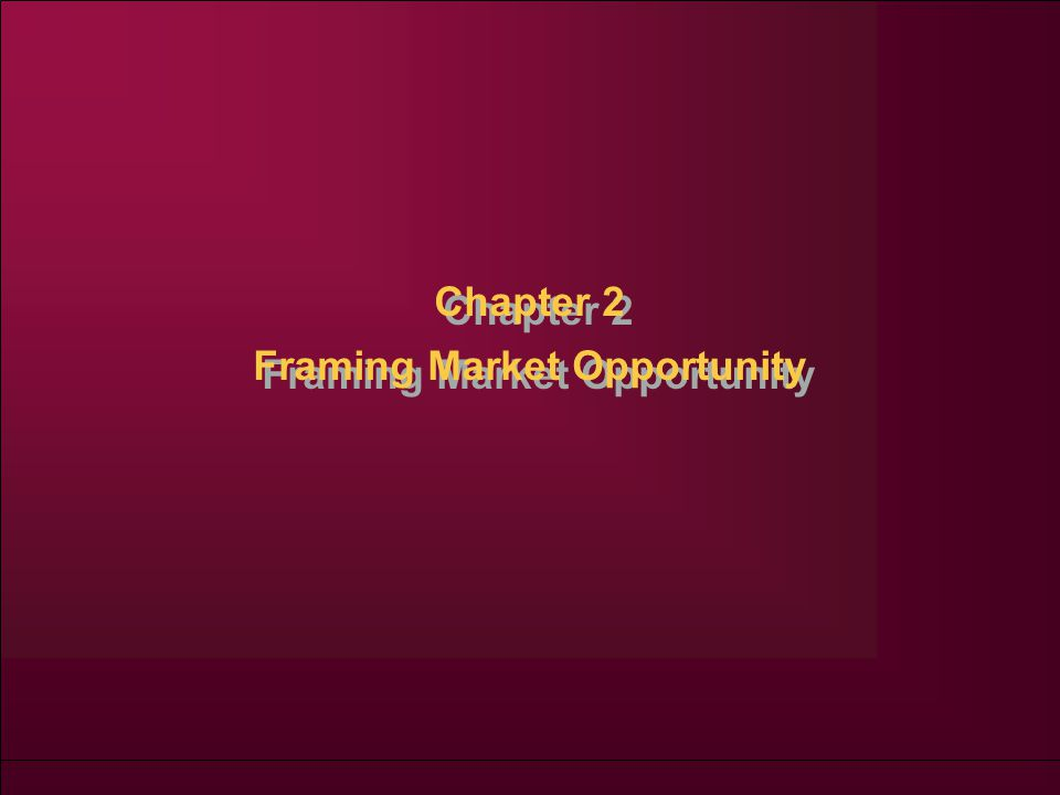 Chapter 2 Framing Market Opportunity