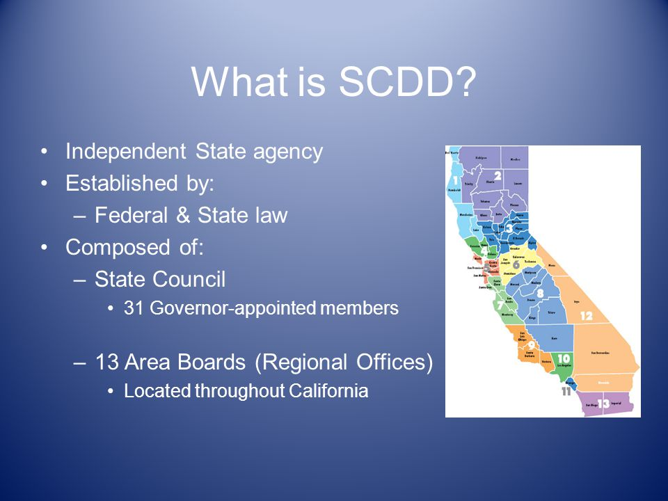 What is SCDD.