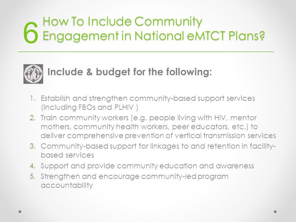 How To Include Community Engagement in National eMTCT Plans.