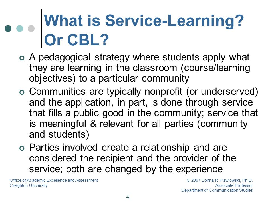 5 What is Service-Learning.Or CBL.