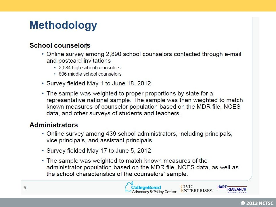 © 2013 National Center for Transforming School Counseling Key Finding: Efficacy