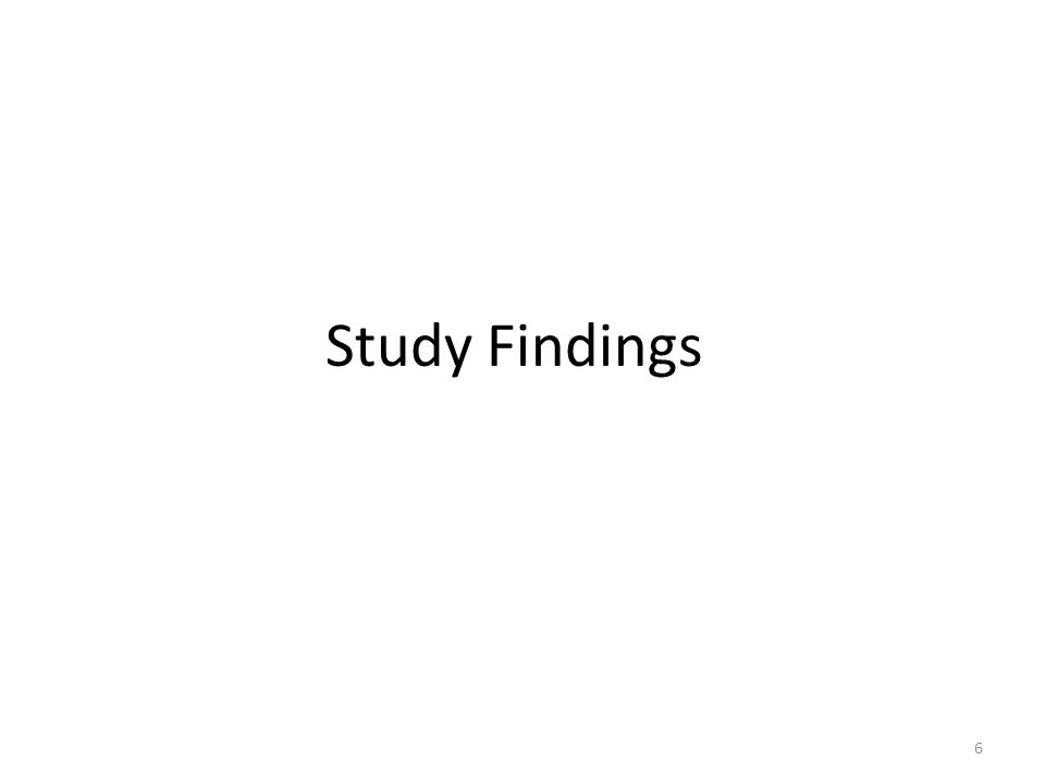 Study Findings 6