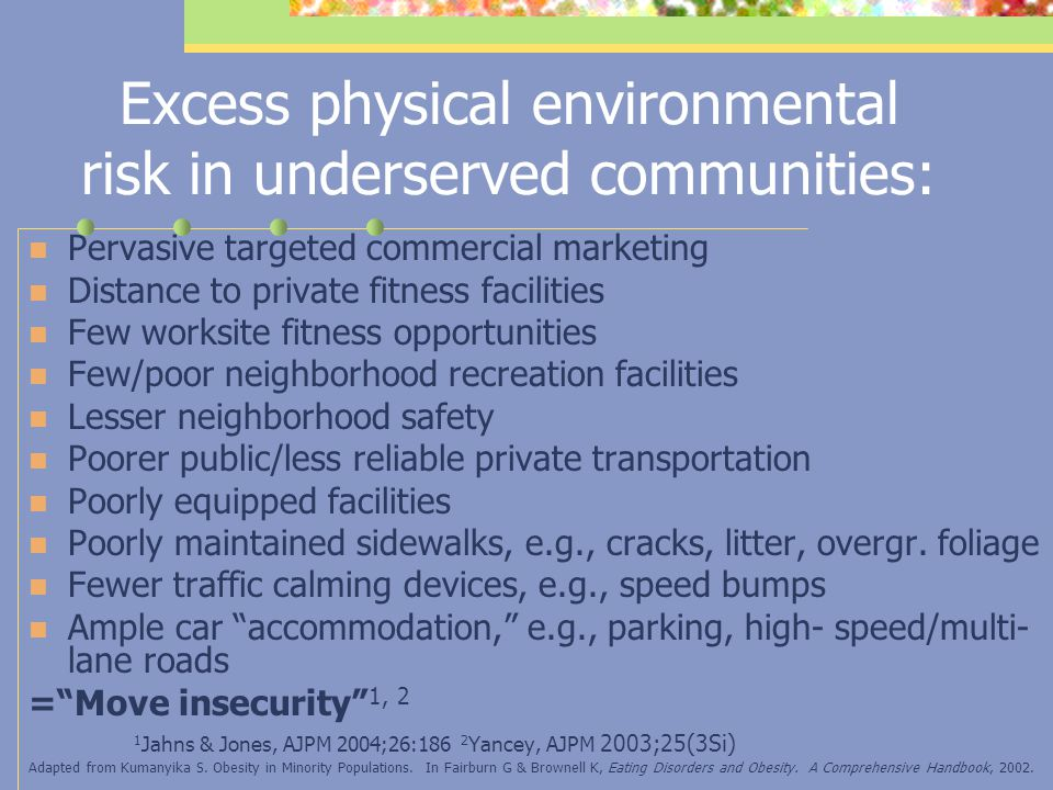 Lesser Effectiveness of Key Environmental Interventions in Underserved Groups: Example Posting of Signs Promoting Stair Usage (suburban Baltimore mall