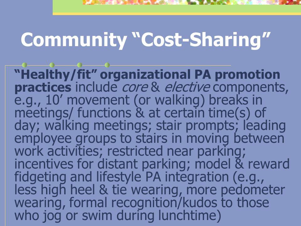 Community Cost-Sharing 1.