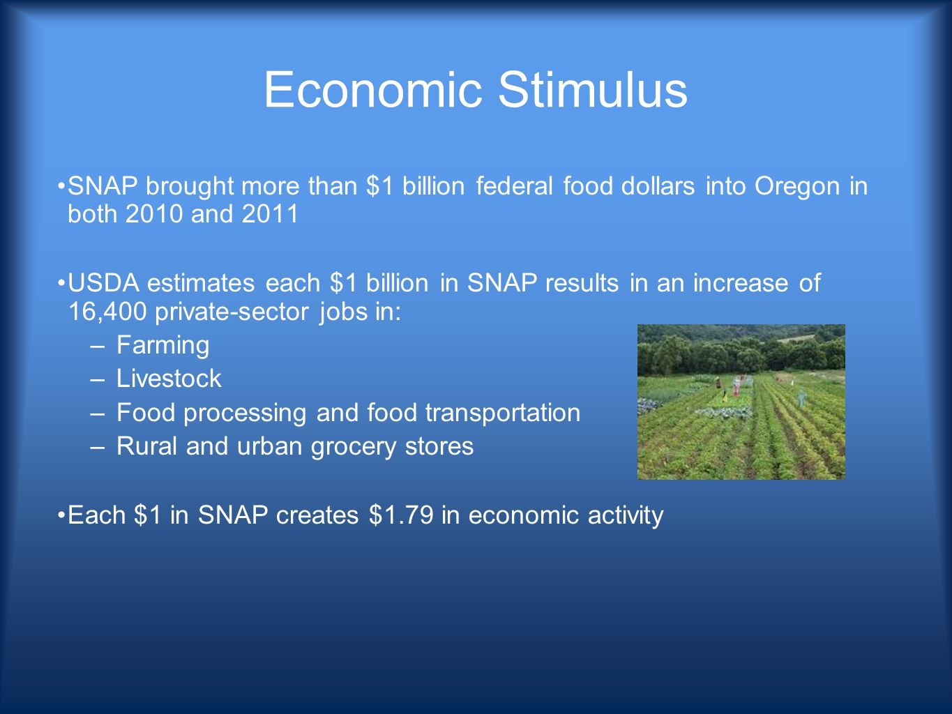Small group questions 1.Why are eligible (people) not getting their SNAP benefits.