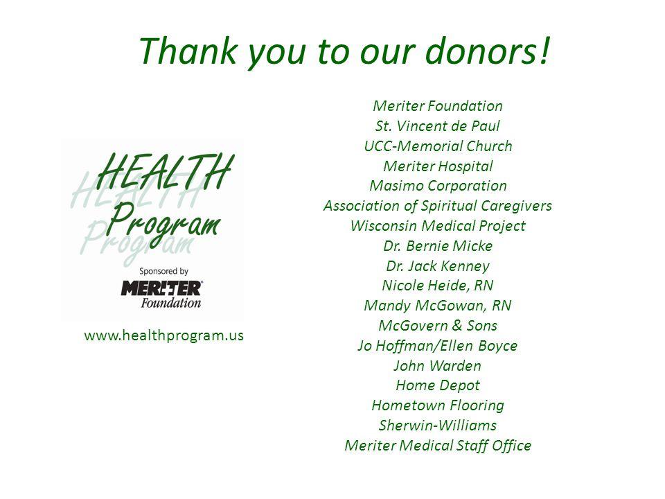 www.healthprogram.us Meriter Foundation St.