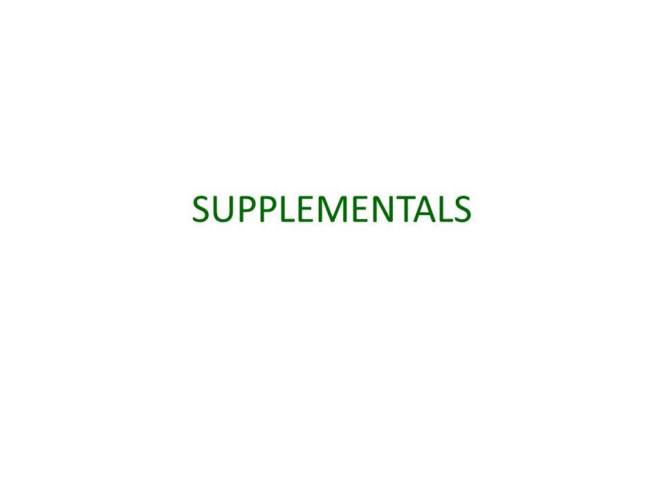 SUPPLEMENTALS