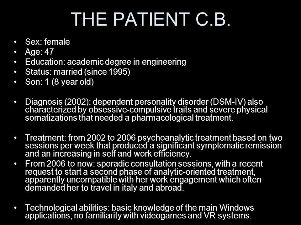 THE PATIENT C.B.