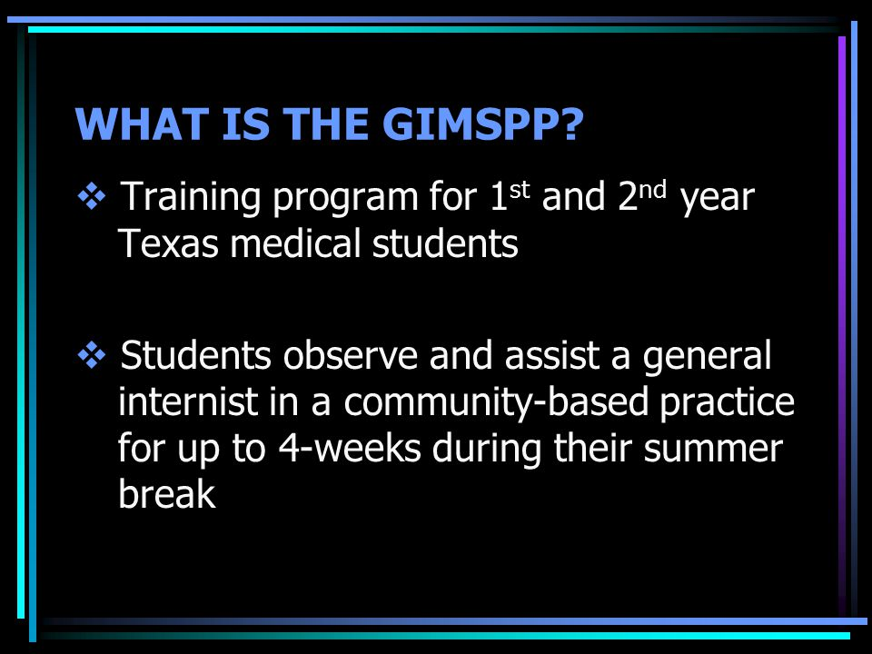 WHAT IS THE GIMSPP.