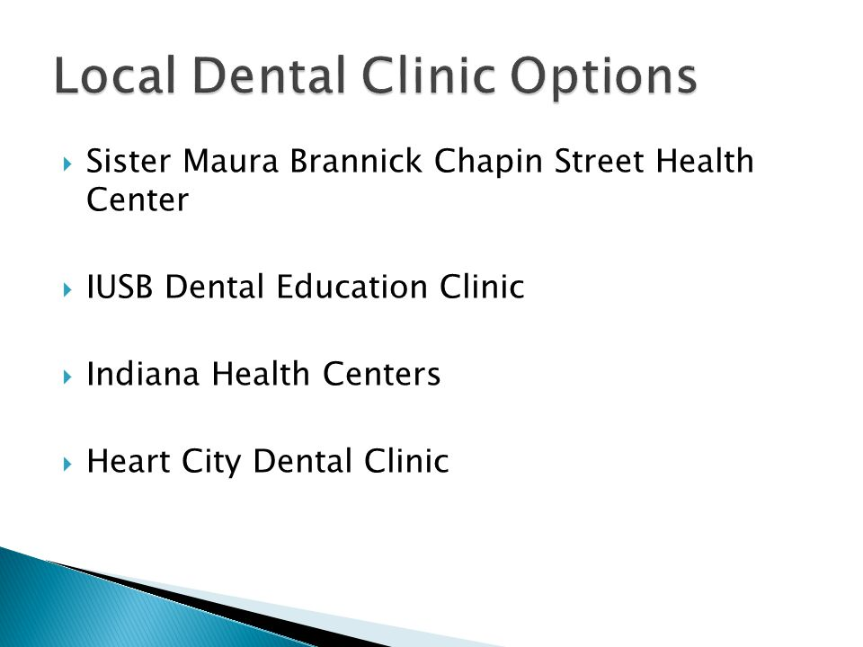  Sister Maura Brannick Chapin Street Health Center  IUSB Dental Education Clinic  Indiana Health Centers  Heart City Dental Clinic Local Dental Cl