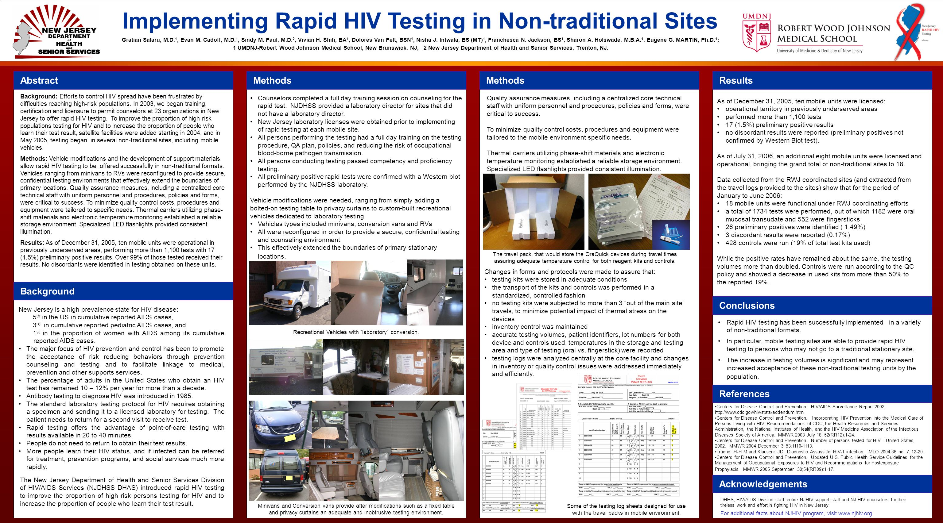 Implementing Rapid HIV Testing in Non-traditional Sites Gratian Salaru, M.D.
